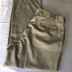JOS A BANK Signature Flat Front Lined Pants Khaki